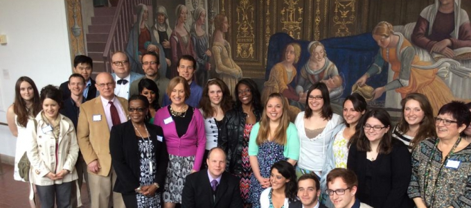 group of religious studies students and professors